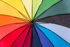 Rainbow umbrella background Stock Images