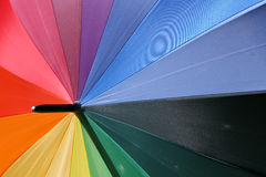 Rainbow umbrella Stock Photos