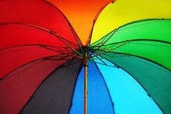 Rainbow umbrella close up. Rainbow colored umbrella close up Royalty Free Stock Image