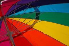Rainbow Umbrella. Rainbow of Color in a beach umbrella Stock Images