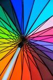 Rainbow umbrella. Rainbow Colorful umbrella closeup background Royalty Free Stock Images