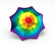 Rainbow umbrella colorful metallic texture Royalty Free Stock Images