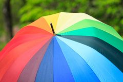 Umbrella of rainbow color Royalty Free Stock Photography