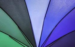 Rainbow  umbrella pattern. Closeup rainbow colored summer umbrella pattern   background Royalty Free Stock Photos