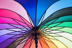 Rainbow umbrella. Royalty Free Stock Images