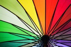Rainbow umbrella. Stock Photo