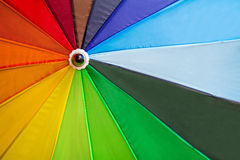 A rainbow umbrella Stock Photography