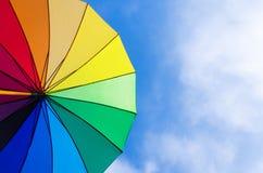 Rainbow umbrella's background Stock Image