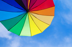 Rainbow umbrella's background Stock Photo