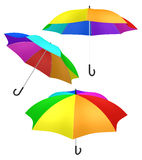 Rainbow umbrella vibrant color Stock Image