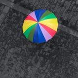 Rainbow umbrella Stock Photos