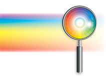 Rainbow Under Magnifying Glass Royalty Free Stock Images