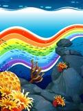 Rainbow underwater Royalty Free Stock Image