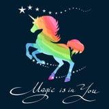 Rainbow unicorn background vector illustration