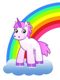 Rainbow and unicorn Royalty Free Stock Photo