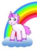 Rainbow and unicorn Royalty Free Stock Photo