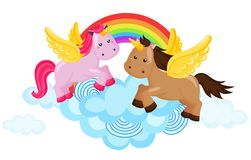 Rainbow unicorn Royalty Free Stock Image