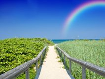 Rainbow Vacation Stock Photo