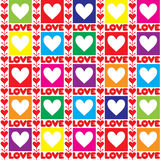 Rainbow valentine seamless background Royalty Free Stock Photos