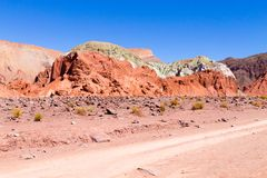 Rainbow Valley, Chile. Rainbow Valley landscape, Chile. Chilean panorama. Valle Arcoiris stock image