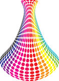 Rainbow vase Royalty Free Stock Photography