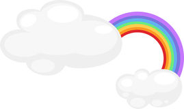 Rainbow vector. Cartoon Rainbow on white background vector Stock Photography