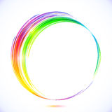 Rainbow vector abstract circle frame Stock Photos