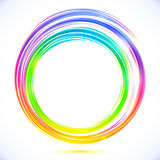 Rainbow vector abstract circle frame Royalty Free Stock Photography