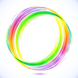 Rainbow vector abstract circle frame Stock Photography