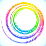 Rainbow vector abstract circle frame Royalty Free Stock Photos