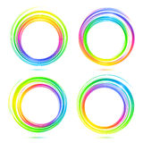 Rainbow vector abstract circle frames set Stock Photos