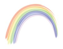 Rainbow vector stock photo