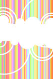 Rainbow vector background Stock Images