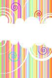 Rainbow vector background Royalty Free Stock Image