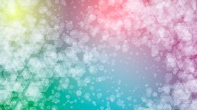 Rainbow vector background of hexagons Royalty Free Stock Photo
