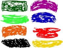 Rainbow vector brush strokes collection. Rainbow vector brush strokes, collection Royalty Free Stock Photo