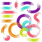 Rainbow vector brush strokes collection Royalty Free Stock Photography