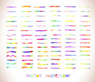 Rainbow vector brush strokes collection Stock Images