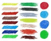 Rainbow vector brush strokes collection. Stock Photography