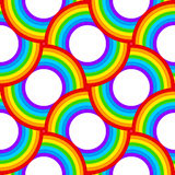 Rainbow vector circles seamless pattern Royalty Free Stock Photography