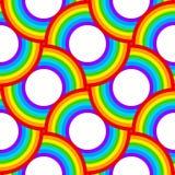 Rainbow vector circles seamless pattern. Rainbow colors abstract circles vector seamless pattern royalty free illustration