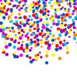 Rainbow VECTOR falling confetti, isolated on white background festive illustration. Rainbow VECTOR falling confetti, isolated on white background festive Stock Images