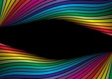 Rainbow vector frame Stock Photos