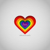 Rainbow vector heart celebrate the equality Stock Photos