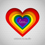 Rainbow vector heart celebrate the equality Royalty Free Stock Photos