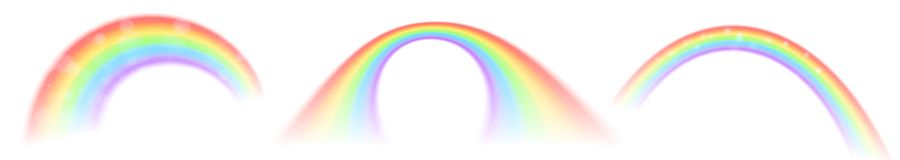 Rainbow vector icons isolated on white background royalty free stock photography