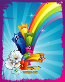 Rainbow vector illustration Stock Photos