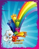 Rainbow vector illustration Stock Photos