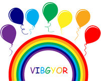 Rainbow. Vector illustration of rainbow balloons Royalty Free Stock Photo