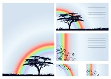 Rainbow - vector set Stock Image
